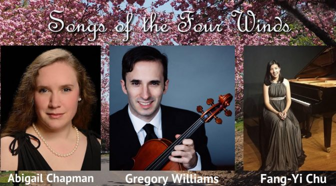 <b>Songs of the Four Winds: New Music for Voice, Viola, and Piano</b><br>Monday, July 23 — 8:00 PM