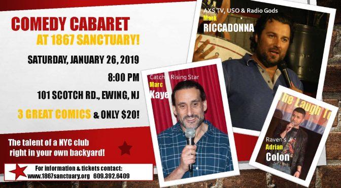 <b>Comedy Cabaret</b><br>Saturday, January 26 — 8:00 PM
