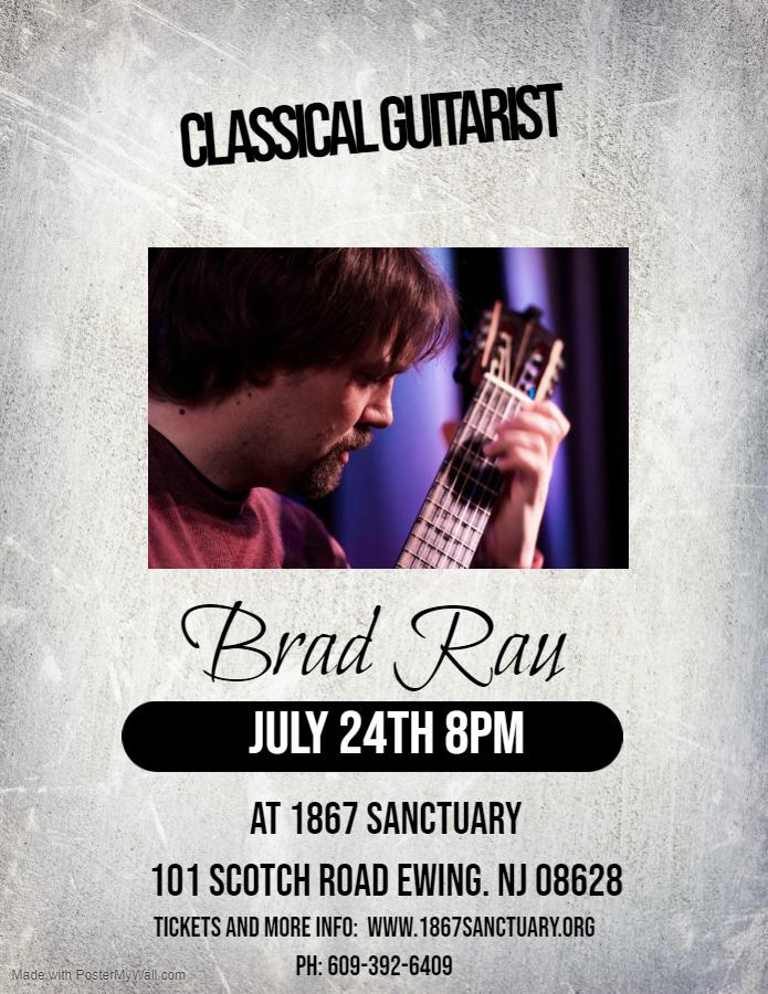 Brad Rau, Classical Guitar - 1867 Sanctuary Featured Events